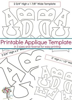 Templates to make the entire alphabet appliqus print in both standard and reverse/mirror for easy tracing/transfer to paper back fusing. Alphabet