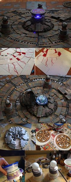Khador Reactor Core - Warmachine Terrain - WIP picures