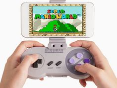 Super Nintendo Wireless Controller #supernintendio #snes http://supercooltobuy.com/post/144865303487/super-nintendo-wireless-controller-turn-your-phone