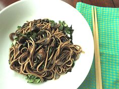 Soba Noodles with Swiss Chard and Mushrooms
