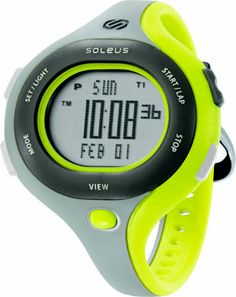 Soleus Running Watch - Chicked - Track Gray / Volt Green / Dusk Gray