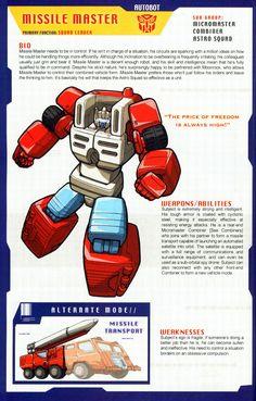 Transformer of the Day: Missile Master Transformers Decepticons, Transformers Characters, Transformers Optimus Prime, Gi Joe, Comic Book Characters, Comic Books, Classic Cartoons, Manga, Pokemon
