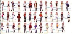 all of emu's clothes style ^^=