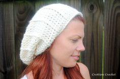 free crochet hat pattern super soft slouch
