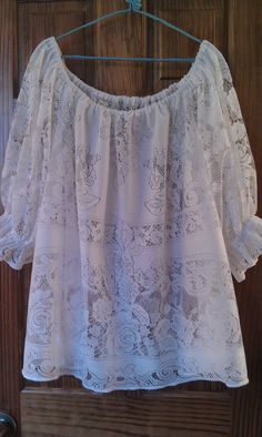 White Lace Tablecloth Tunic