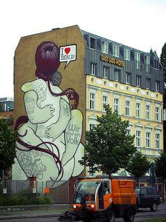 Beautiful graffiti in Berlin...
