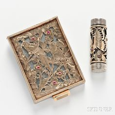 Gem-set Compact and Lipstick Case, Boucheron | Sale Number 2826B, Lot Number 299 | Skinner Auctioneers