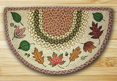 Earth Rugs Autumn Leaves Braided Slice Area Rugs Are Great In Your Home For That Country Feeling!!!! ON SALE NOW!!!!