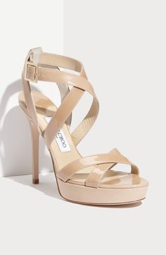 The ultimate nude patent sandal. Love Jimmy Choo!