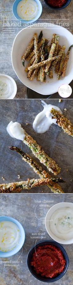Baked asparagus fries! O lawd!