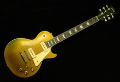 A 1956 Gibson Les Paul Goldtop with P90 pickups and a beautiful naturally aged finish .