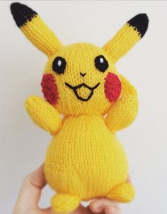 Knitting pattern for Pikachu toy doll - #ad This Pikachu toy measures roughly 22cm tall and has movable arms.