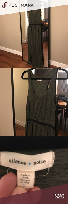 Urban outfitters green maxi dress with high slit Urban outfitters green maxi dress with high slit -silence and noise Urban Outfitters Dresses Maxi