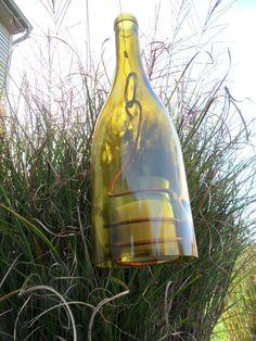 Hanging Wine Bottle Candle Holder Lantern- maybe this???