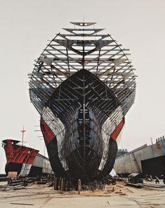 PHILLIPS : NY040211, Edward Burtynsky, Shipyard #11, Qili Port, Zhejiang Province, China