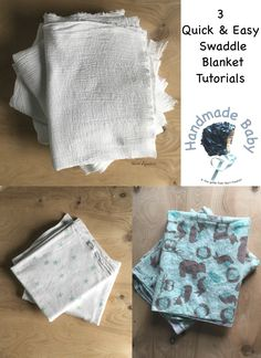 3 swaddle blanket tutorials by Skirt Fixation