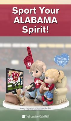 Celebrate your passion for the Alabama Crimson Tide with this Precious Moments Fan Figurine that's perfect for game day!