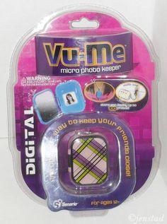 "VU-ME 2"" DIGITAL MICRO COLOR LCD PHOTO SCREEN PICTURE KEEPER SENARIO PLAID #3 #Senario"