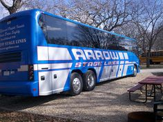 Arrow Stage Lines Blue Motorcoach