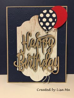 Stampin Up Happy Birthday thinlits die