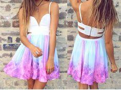 Buy Fashion Clothing - Woman Low Neck Sleeveless Galaxy Print Dress - Party Dresses - Dresses