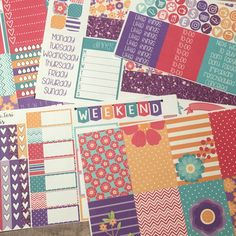 I just love these bright florals I can't wait to get them in my planner!