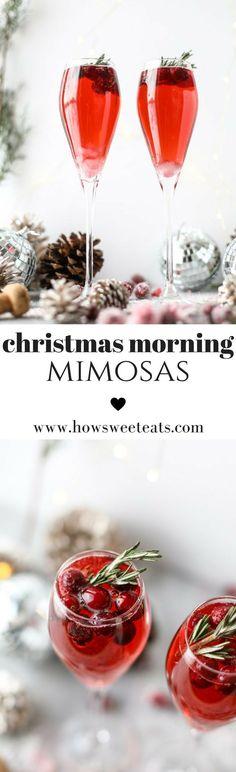 Christmas Morning Mimosas! I howsweeteats.com @howsweeteats #christmas