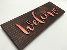 Welcome Lasercut Wood Sign by EarthandAsh on Etsy https://www.etsy.com/listing/271550097/welcome-lasercut-wood-sign