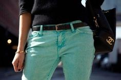 i don't usually go for colourful jeans but i like these