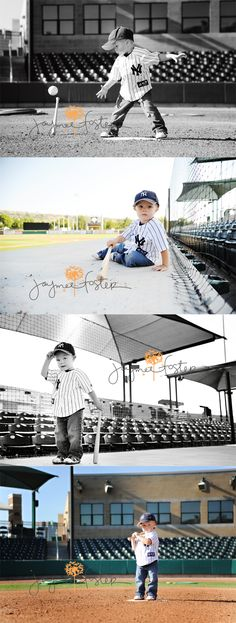 Baseball pics for toddlers... you can bet I will be doing this with my kids someday. Minus the Yankees shirt!