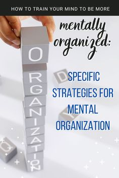 If you can organize your mind, you can organize the spaces around you! Mental organization is hardly discussed, but so important when it comes to being productive, effective, efficient, and well-managed with time. This video shares 5 specific strategies on how to be more mentally organized to achieve more in life. Train Your Mind, How To Train Your, Productivity, Organize, Things To Come, Mindfulness, Organization, Spaces, Tips