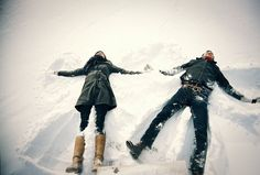 Bucket List... Make snow angels with a boy.. Best friend or boyfriend, I don't care which! But I have to do this ;)