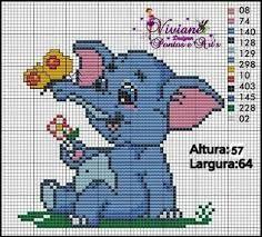 Resultado de imagem para elefante em ponto cruz
