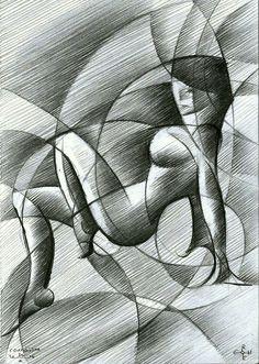 Roundism - 30-10-14, graphite on paper (29,7 x 42 cm - A3 format) (for sale / te koop) see more: www.corneakkers.com Sales info: info@corneakkers.com. See more: www.corneakkers.com. Follow me at twitter: @Corne_Akkers #nude #art #arts #kunst #woman #model #Corné # Corne #Akkers #dutch #drawing #tekening #cubistic #kubisme #cubismo #cubisme #kubistisch #cubism #art deco #dessin #crayon #arte #arta #artista #artist #artiste #kunstenaar #rondisme #roundism