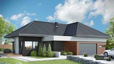 Bungalow House Design, Modern House Design, New House Plans, Modern House Plans, Dream Home Design, Home Design Plans, Beautiful House Plans, Beautiful Homes, Exterior House Colors