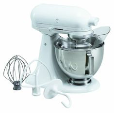 KitchenAid KSM100PSWW Ultra Power Plus 412Quart Stand Mixer with Pouring Shield White ** Click for Special Deals #StandMixer