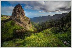 Roque de Agando, isla de La Gomera. Islas Canarias. España