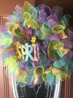 Hey, I found this really awesome Etsy listing at https://www.etsy.com/listing/269560462/spring-deco-mesh-wreath