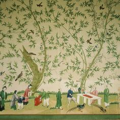 Detail of the wallpaper in the Chinese Bedroom at Belton House, probably hung in about ©National Trust Images/Martin Trelawny
