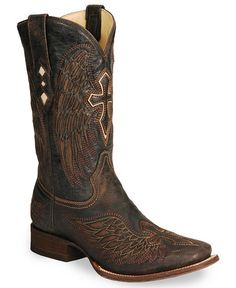 Corral Winged Cross Inlay Western Boots