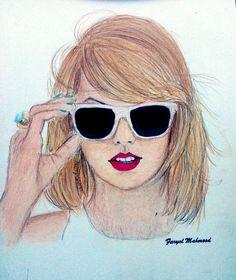 Taylor swift Color pencil sketch