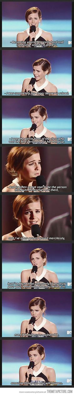 Emma Watson speaks // Just EM being fabulous.