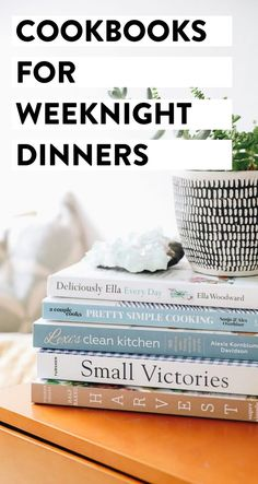 Looking for quick and easy weeknight dinner recipes? Here's a list of the best cookbooks to inspire delicious meals, every night of the week #cookbooks