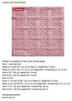 Rib Stitch Knitting, Knitting Stiches, Knitting Charts, Loom Knitting, Hand Knitting, Knit Stitches, Knitting Abbreviations, Beginner Knitting Patterns, Dishcloth Knitting Patterns