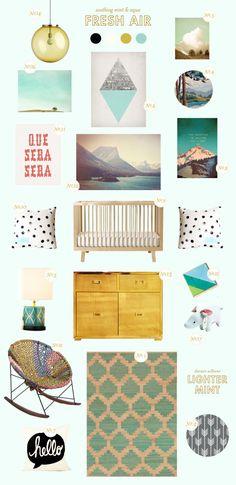 Mint Nursery Inspiration From Lay Baby Lay. #luluandgeorgia Apache Rug