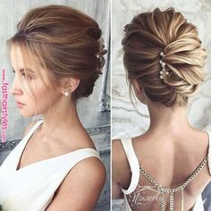 medium length wedding hairstyles truly are trendy. This medium length wedding hairstyles truly are trendy.This medium length wedding hairstyles truly are trendy. Updos For Medium Length Hair, Short Hair Updo, Short Wedding Hair, Wedding Hair And Makeup, Medium Hair Styles, Curly Hair Styles, Sleek Wedding Updo, Trendy Wedding, Medium Length Wedding Hairstyles