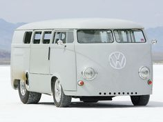 1962 VW bus gutted, filled with giant hot rod engine