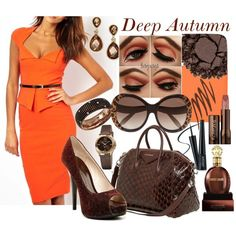 Deep Autumn by prettyyourworld on Polyvore featuring Mode, Chinese Laundry, Givenchy, Damiani, INC International Concepts, Akribos XXIV, Roberto Cavalli, Urban Decay, shu uemura and Hourglass Cosmetics