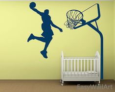 Basketball Wall Decal   Basketball Decal, Sports Wall Decal,Vinyl Wall  Decals,Vinyl Decal Nursery Wall Decals Kids,Basketball Decor Boy Room
