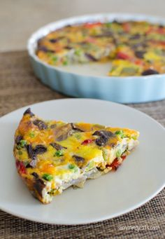 Slimming Eats Roasted Vegetable Frittata - gluten free, vegetarian, Slimming World (SP) and Weight Watchers friendly Veggie Recipes, Baby Food Recipes, Vegetarian Recipes, Cooking Recipes, Healthy Recipes, Healthy Kids, Healthy Food, Slimming Eats, Slimming World Recipes